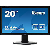 iiyama ProLite E2083HSD 19.5 LED Monitor 1600 x 900 5ms Speakers