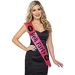 Hen Party Sash Pink