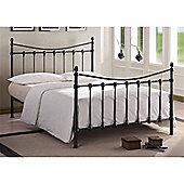 "Black Metal Bed Frame - Double 4ft 6"""