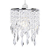 Jewel Ceiling Pendant Light Shade in Chrome & Clear