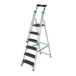 Pro Aluminium 6 Tread (Handrail & Tool tray) Platform Step Ladder
