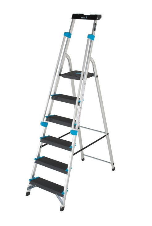 Professional 6 Tread Platform Step Ladder (Handrail & Tool tray)