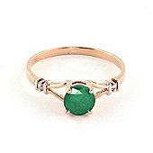QP Jewellers Diamond & Emerald Aspire Ring in 14K Rose Gold