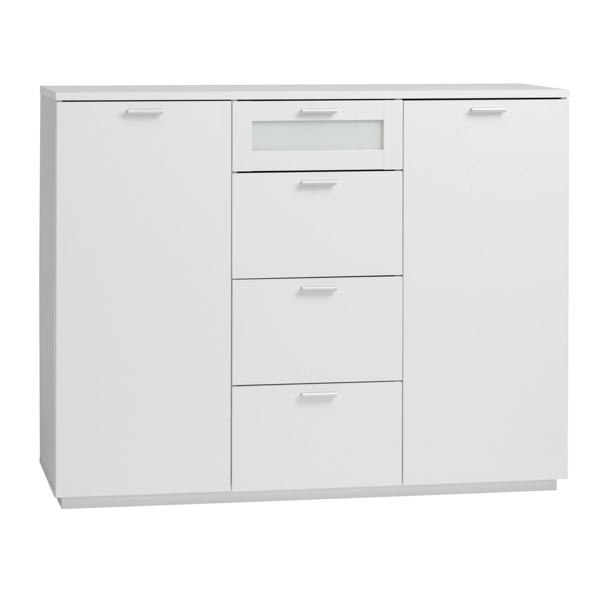Tvilum New York Sideboard with Two Doors and Four Drawers in White at Tesco Direct