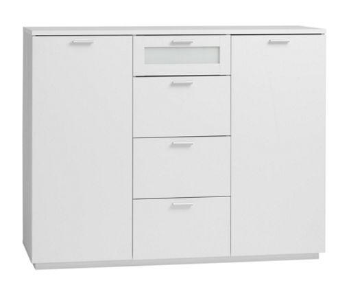 Tvilum New York Sideboard with Two Doors and Four Drawers in White