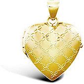 9ct Yellow Gold Heart Locket