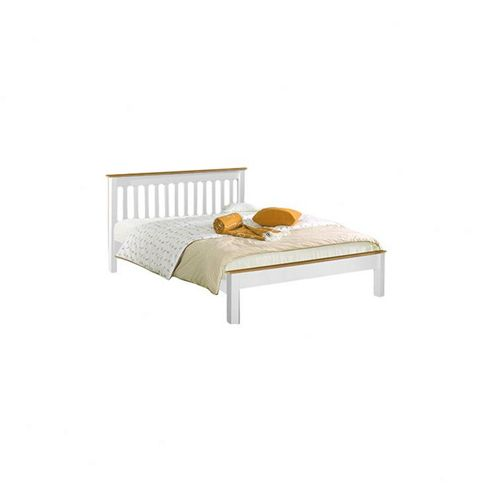 Amani Derby Bed in white waxed pine - Double