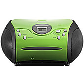 Lenco SCD24 Portable CD/Radio Stereo System (Green)