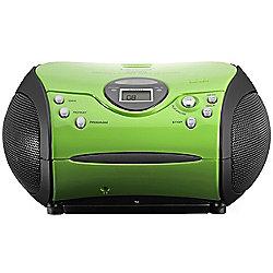 Lenco SCD24 Portable CD/Radio Stereo System (Green)