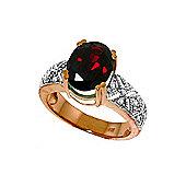 QP Jewellers Diamond & Garnet Renaissance Ring in 14K Rose Gold