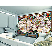 1Wall Antique World Map Wall Mural
