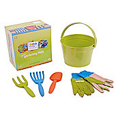 Twigz Childrens Gardening Tools 0830 My First Gardening Tools (Green Bucket)