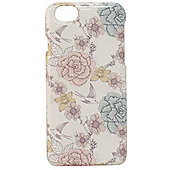Tortoise Hard Protective Case,iPhone 6, Bird and Flower Print. Pastel Multi.