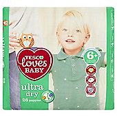Tesco Loves Baby Ultra Dry Extra Large Plus Size 6+ - 26 Pack