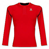 2012-13 Liverpool Warrior LS Compression Tee (Red) - Red