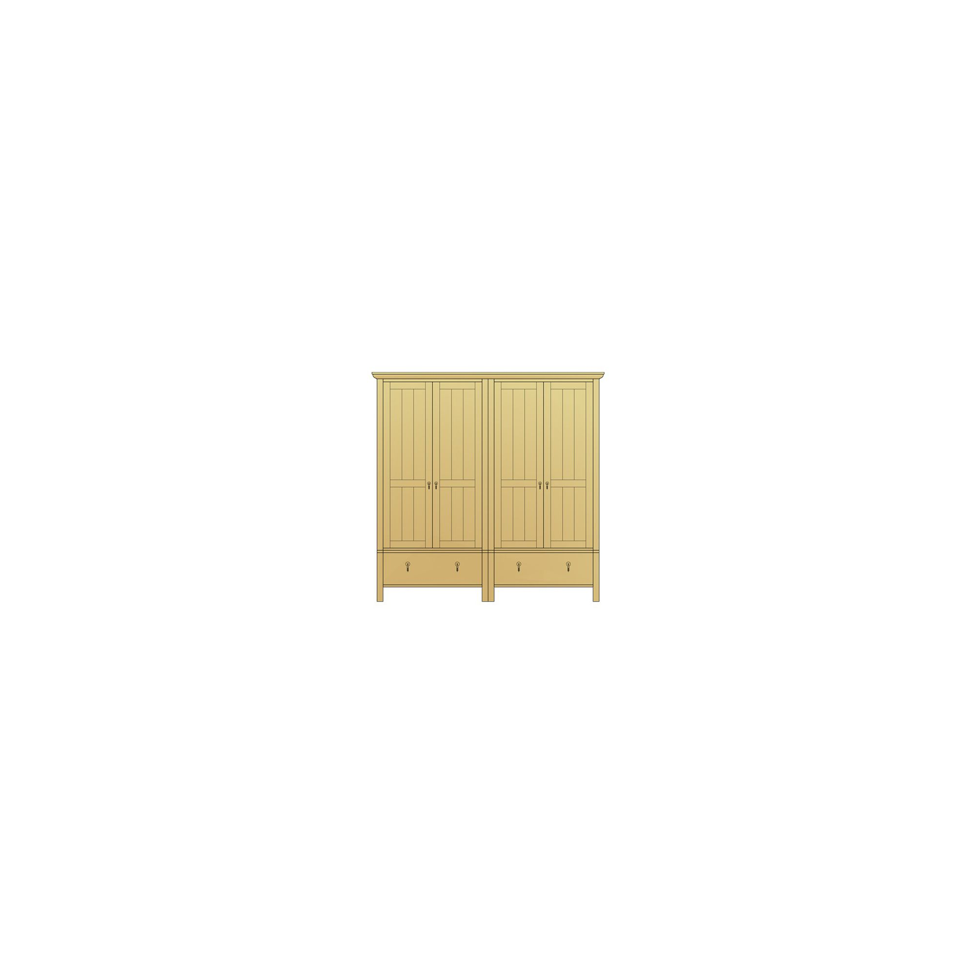 Sherry Designs Simply Bedroom 4 Door 2 Drawer Combination Oak Wardrobe at Tesco Direct