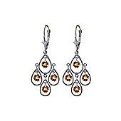QP Jewellers 2.40ct Citrine Quadruplo Milan Earrings in 14K White Gold