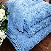 Homescapes Turkish Cotton Cobalt Blue Bath Towels Set