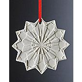 Weimar Snow Star Christmas Tree Decoration (Set of 2)