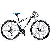 "19"" Whistle Patwin 1380D Mens' Bike, White/Black"