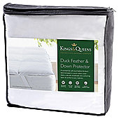 Kings & Queens Duck Feather and Down Mattress Protector Superking