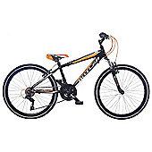 "Claud Butler Battleaxe Kids' 24"" Wheel Black Junior Bike"