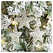 Weiste Glass Crystal Stars Christmas Tree Decorations, 3 pack