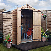 BillyOh 20 Rustic Overlap 3x6 Windowless shed