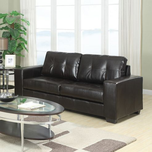 Sofa Source Rose Bonded Leather 3 Seater Sofa - Brown