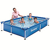 "Bestway Steel Pro Rectangular Frame Pool No Pump 87"" x 59"" x 17"" - 56040"
