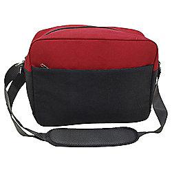Tesco Red/Grey Messenger Bag