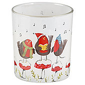 Pudding Town Singing Robins - Candle in a Jar