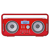 Groov-e Bluetooth Retro Radio Red