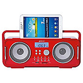 Groov-e Bluetooth Retro Speaker Red