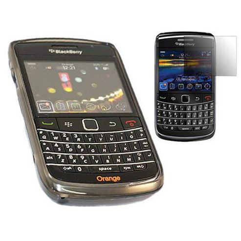 Black Silicone Case + LCD Screen protector and Cleaning Cloth - BlackBerry 9700 Bold, 9780 Onyx