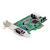 StarTech 1 Port Low Profile Native RS232 PCI Express Serial Card With 16550 UART