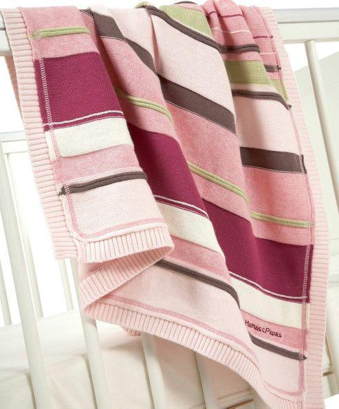 Mamas & Papas - Scrapbook Girls - Knitted Blanket