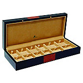 Luxury 12 Place Black and Burl Wood Cufflink Storage Box