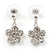 Small Crystal Flower Drop Earrings