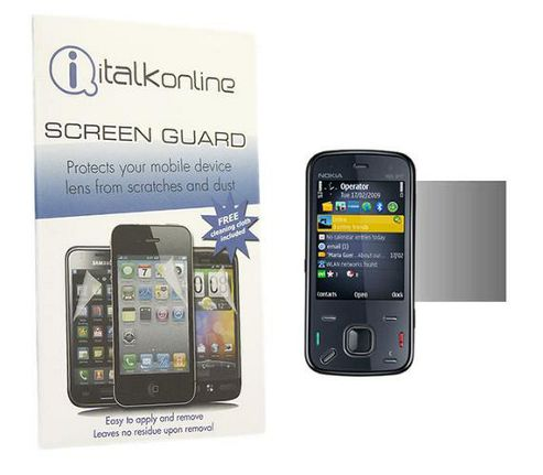 iTALKonline S-Protect LCD Screen Protector and Micro Fibre Cleaning Cloth - For  Nokia N86