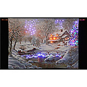 Nicky Boehme Over the Bridge to Grandma's Illuminated Hanging Tapestry