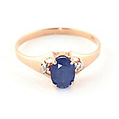 QP Jewellers Diamond & Sapphire Oval Desire Ring in 14K Rose Gold