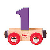 Bigjigs Rail Rail Name Number 1 (Purple)