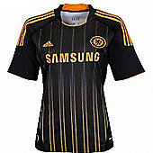 2010-11 Chelsea Adidas Away Womens Shirt - Black