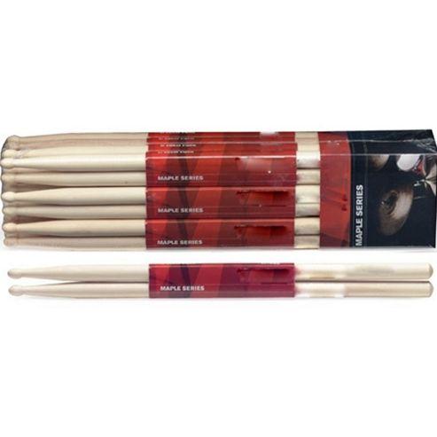 Rocket SM5B 5B Maple Drum Sticks - Wooden Tip - Pair