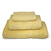 Yellow 3 Piece 450gsm Turkish Towel Bale