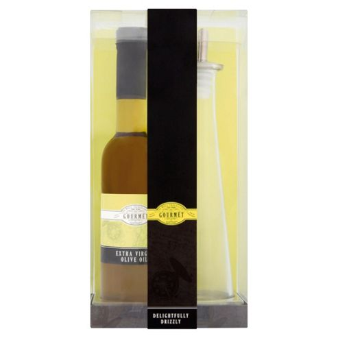 Gourmet Glass Oil Drizzler & Olive Oil Set