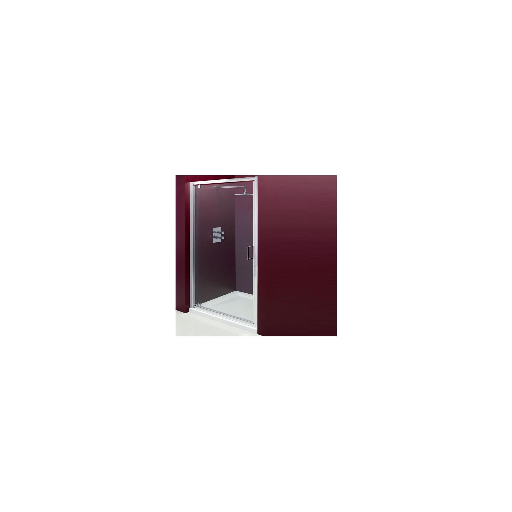 Merlyn Vivid Entree Pivot Door Alcove Shower Enclosure, 800mm x 800mm, Low Profile Tray, 6mm Glass at Tesco Direct
