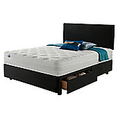 Silentnight Mirapocket 1200 Latex 2 Drawer Super King Divan Charcoal with Headboard