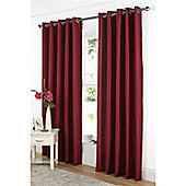 Dreams and Drapes Java Lined Eyelet Faux Silk Curtains 66x90 inches (168x228cm) - Red